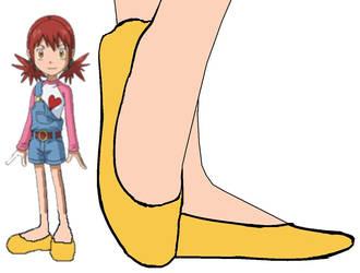 Akari Hinomoto in Flats No Socks by BrendyFlatsMJFF