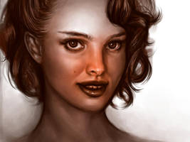 Natalie Portman portet study by loginatu