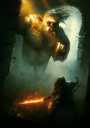 Knight and Ogre by loginatu