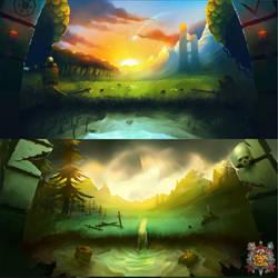 Mage and Minions - Menu Backgrounds by loginatu