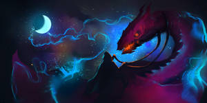 Mage and Minions - Dragon Riding by loginatu