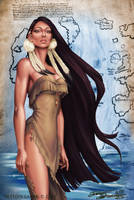 Native American Girl.Szekeres by Jozef-Szekeres