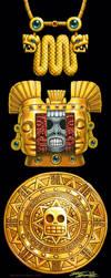Aztec Gold Artifacts.Szekeres by Jozef-Szekeres
