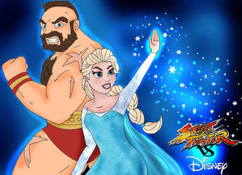 Street Fighter VS Disney by HighwindDesign