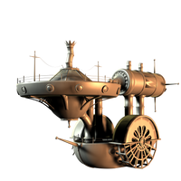 SteamPunk Boat by mysticmorning