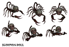 ScorpionDoll set png grouping by mysticmorning