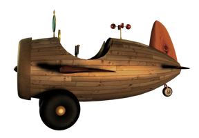SteamPunk Airplane png by mysticmorning
