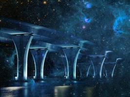 Futuristic Bridge 2 by mysticmorning