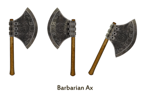 Barbarian Ax png stock by mysticmorning