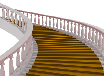 Gold Carpet Stairs png by mysticmorning
