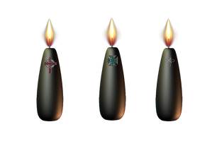 Black Candles png by mysticmorning