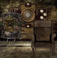 Steampunk Gothic Bckg by mysticmorning