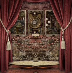 Steampunk Gothic Background by mysticmorning