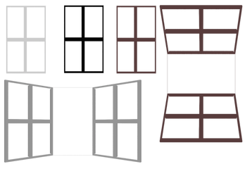 Baywindows and Window png Rendered by mysticmorning
