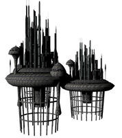 Sci Fi Fantasy Building 2 by mysticmorning