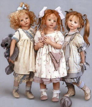 3Little Girls by mysticmorning