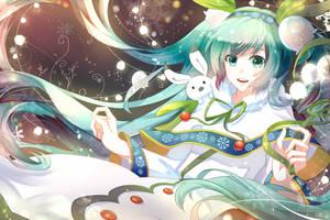 snow miku 2015(2) by Nanatsuki-Jinko