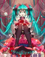 Miku's birthday by Nanatsuki-Jinko