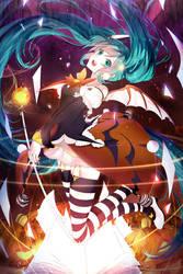 Halloween Miku by Nanatsuki-Jinko
