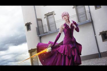 Lightning Midnight Mauve dress - FF13-3 by Shiro-Cosplay