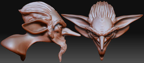 Goblin Bust in ZBrush by CrimsonGear