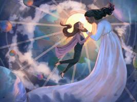 The birth of a goddess by Iwakiyo
