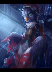 .: Cyber Bird :. by JuliaTheDragonCat