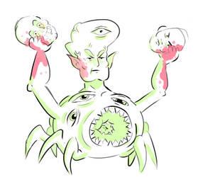 Demon Monster by Sockthegoblin