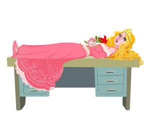 Sleeping Beauty on a desk. by gmangar