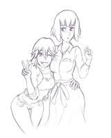 Ryuko + Satsuki by Knifoon