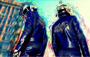 Daft Punk Dammaged Art by XDaftXpunker