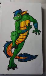 Green Lizard by KittyGuby