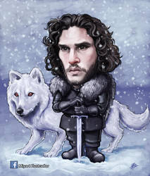 Jon Snow and Ghost by Zalo1989