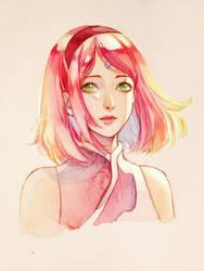 Sakura's smile by DoMyzu