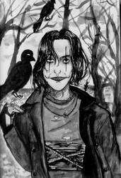 The crow -in memory of  Brendon Lee Fanart by ViktorStefan