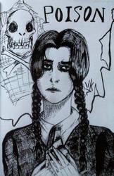 Ricci from Addams family fanart by ViktorStefan