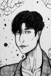 Sunbae Jiwon from BJ Alex fanart by ViktorStefan