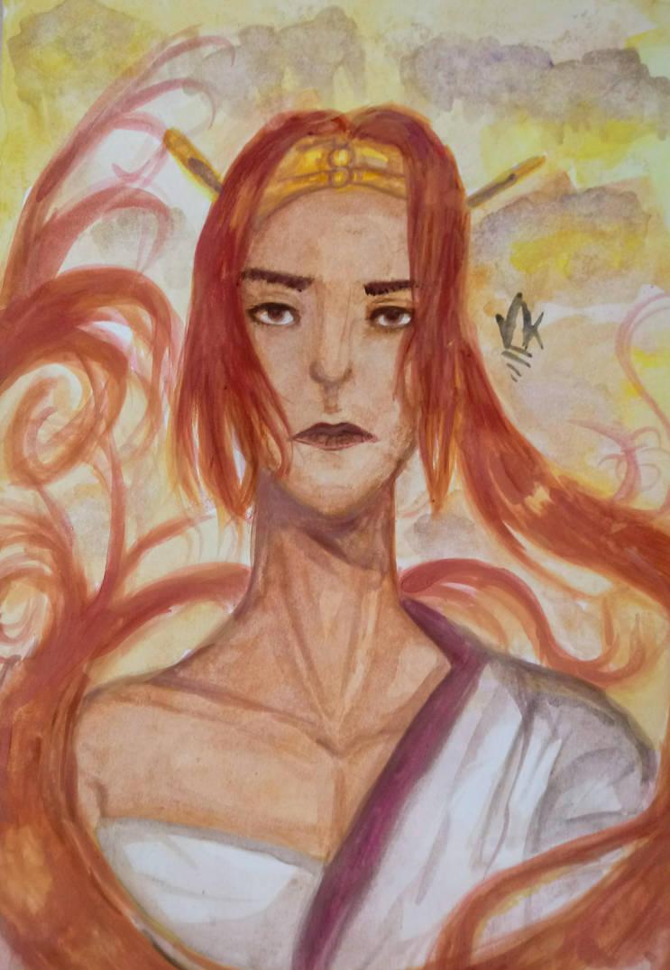 Nariko from Heavenly Sword fanart. by ViktorStefan