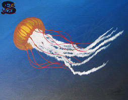 Jiggly Jelly - Jellyfish - Acrylic paint by sammacha