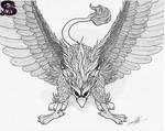 www.sammacha.com The Mighty Griffin Inked by sammacha