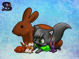 Choco bunny, cute bunny, fluffy bunny, stuffie bun by sammacha