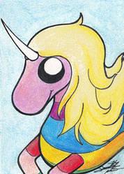 Rainicorn - Original Art card by sammacha