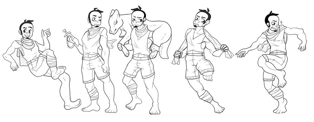Big Bad Wolf Action Pose Sheet By Captainier On Deviantart