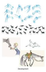 Horse development by Polarkeet