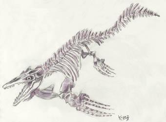 Mosasaur by Polarkeet