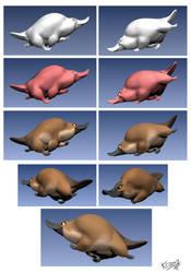 Platypus ZBrush Sculpt by Polarkeet