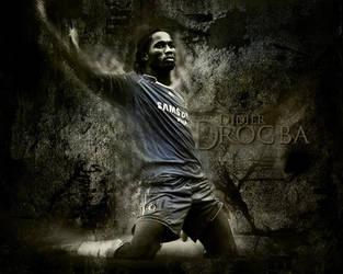 Didier Drogba by soccerarts