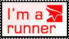 'I'm a runner' stamp. by Chisco-man