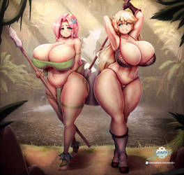 Jungle Shy and Amazon AJ by SpindlesX