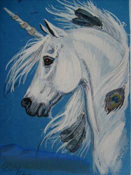 unicorn aceo by echdhu